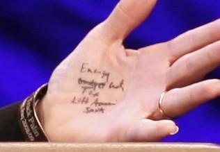 Sarh Palin's Hand Notes
