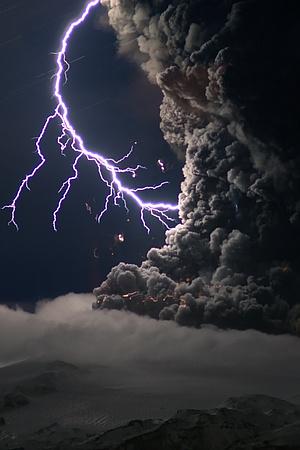 Eyjafjallajokull Volcano Iceland Erupts