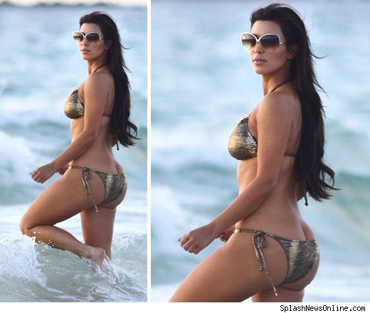 Kim Kardashian's Ass Too Big For A Bikini