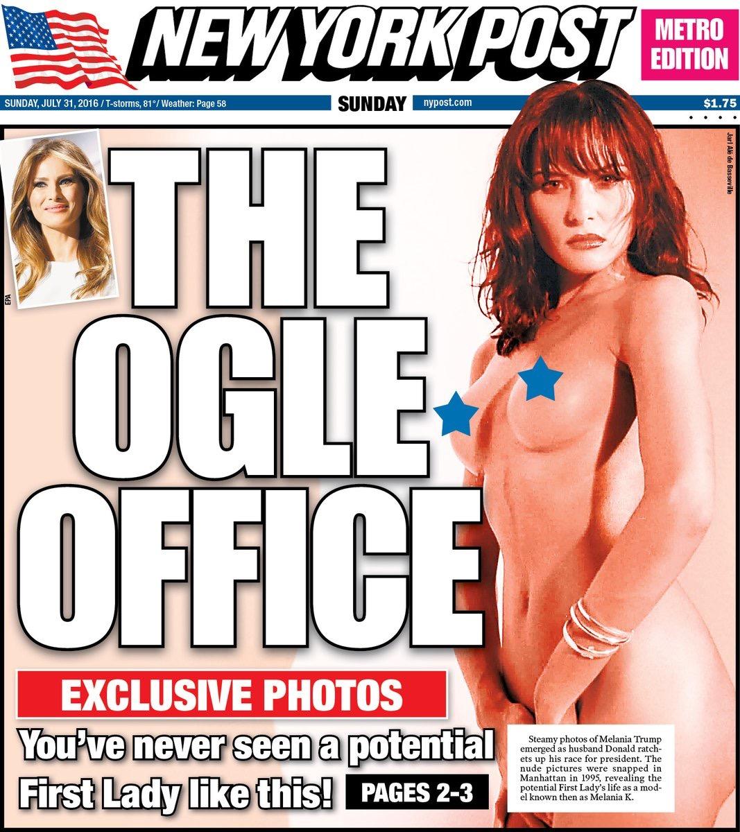 Melani Trump nude NY Post cover